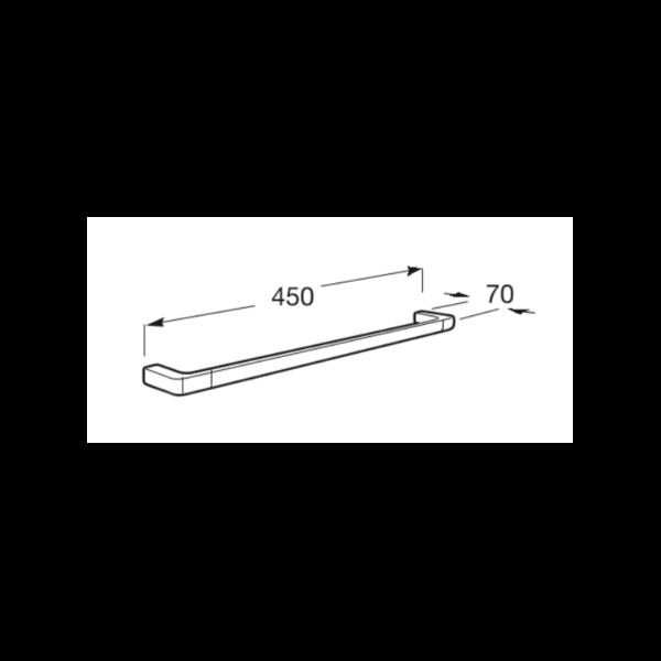 Zdjęcie Wieszak jednoramienny ścienny na ręcznik Roca Tempo 45×7 cm Titanium black A817029022