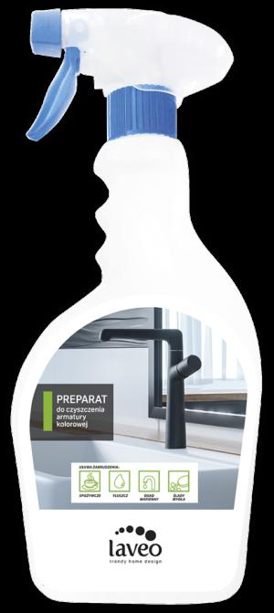 Preparat do czyszczenia i pielęgnacji baterii łazienkowych i kuchennych - kolorowych 500 ml Laveo OKT_051T