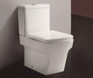 Kompakt WC Bathco Quebec  z miską stojącą, zbiornikiem i deską wolnoopadającą 63x35x74,7 cm biały 4519/UF @^