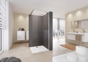 Ścianka prysznicowa boczna Huppe Envy 200x80 cm GL1403 @