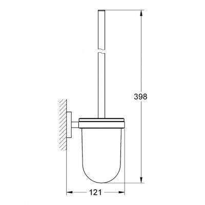 Zdjęcie Szczotka toaletowa kpl. Grohe Essentials Polished nickel 40374BE1