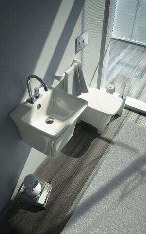 Umywalka wisząca Artceram Cow 45x45 cm biały L6804 @^