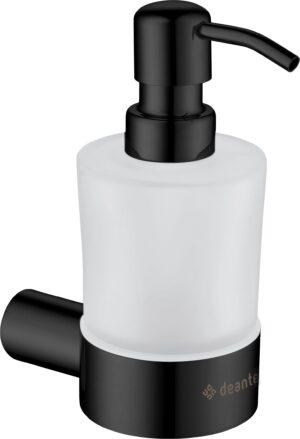 Deante Round Dozownik ścienny do mydła czarny ADR_N421