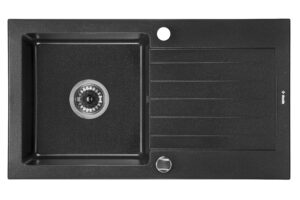 Deante Zorba Zlewozmywak 1-komorowy z ociekaczem 76x44 cm grafit metalik ZQZ_G113