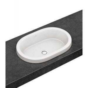 Umywalka wpuszczana w blat owalna Villeroy & Boch Architectura 61,5x41,5 cm weiss alpin 41666001 @