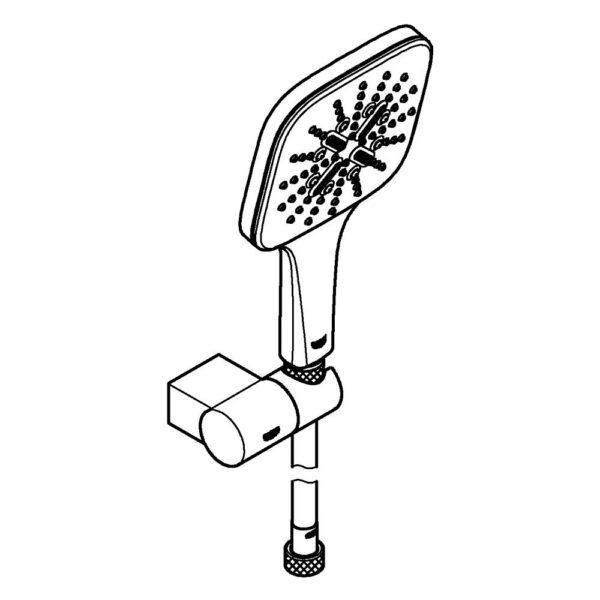 Zdjęcie Grohe Rainshower SmartActive 130 Cube Zestaw prysznicowy, 3 strumienie chrom 26588000 .