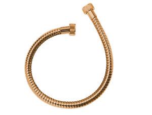 Wąż podłączeniowy 700 mm Laveo Arno różowe złoto CRA_8PTD