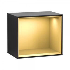 Półka wisząca Villeroy&Boch Finion 41,8x27x35,6 cm czarny mat / złoto F580HFPD @ ^
