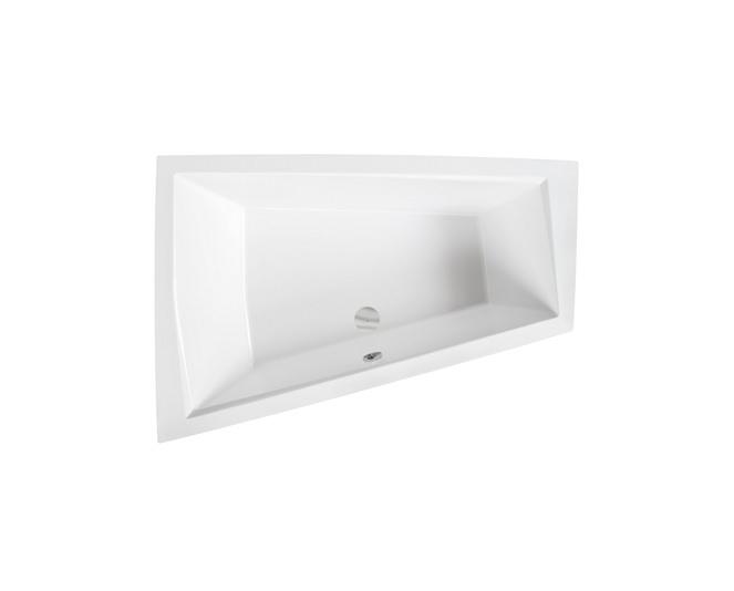 Wanna narożna asymetryczna Besco Intima Duo 170x125 cm lewa biały WAID-170-NL