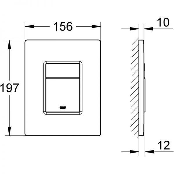 Zdjęcie Stelaż Grohe Rapid SL do WC ściennego 38536001 + GROHE Skate Cosmopolitan – przycisk uruchamiający do spłuczki podtynkowej Warm sunset 38732DA0