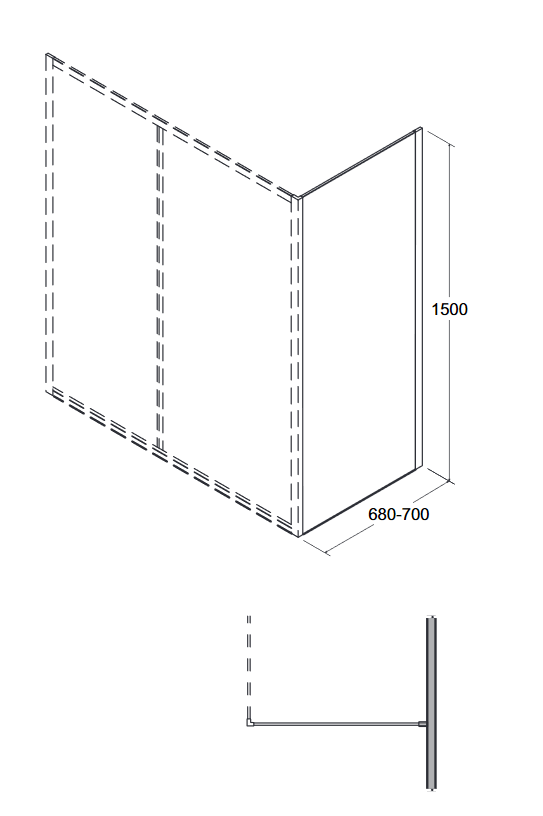 Zdjęcie Panel boczny Besco Duo Slide II 70×150 cm biały PDS-II-70