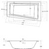 Zdjęcie Wanna asymetryczna prawa Besco Intima Slim 150×85 cm biały WAIT-150-SP