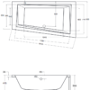 Zdjęcie Wanna asymetryczna lewa Besco Intima 160×90 cm biały WAIT-160-NL