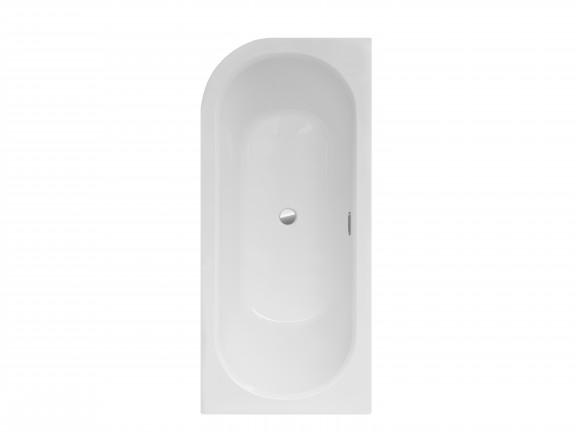 Wanna asymetryczna lewa Besco Avita Slim + 160x75 cm biały WAV-160-SL+