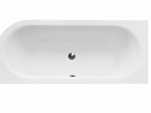 Wanna asymetryczna prawa Besco Avita Slim 150x75 cm biały WAV-150-SP