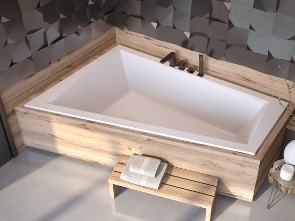 Zdjęcie Wanna asymetryczna lewa Besco Intima Duo Slim  180×125 cm biały WAID-180-SL