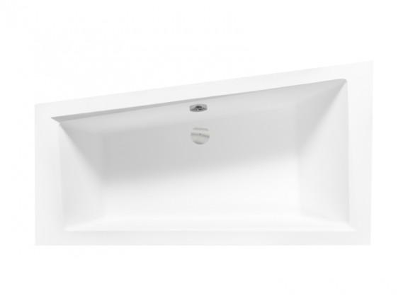 Wanna asymetryczna prawa Besco Intima 160x90 cm biały WAIT-160-NP