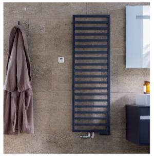 Grzejnik łazienkowy Zehnder Quaro 97,1x45 cm moc: 420 black quartz QA-100-045x0550