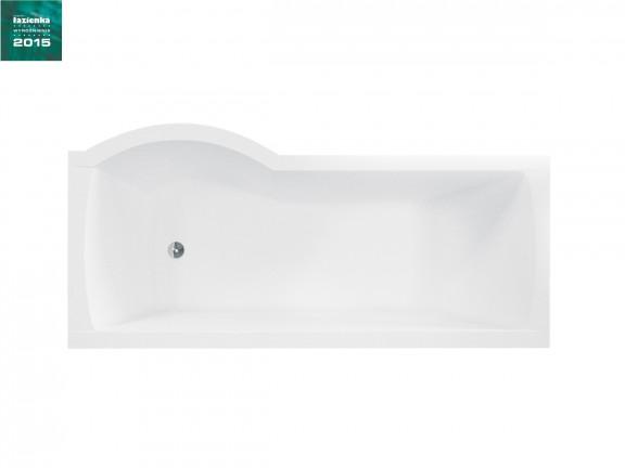 Kabino-wanna prawa +parawan 1-skrzydłowy Besco Inspiro 150x70 cm biały WAI-150-NPR
