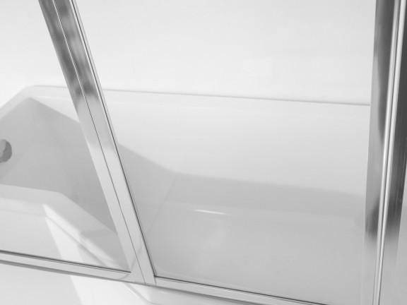 Zdjęcie Kabino-wanna lewa +parawan 3-skrzydłowy Besco Integra 170×75 cm biały WAI-170-PL3