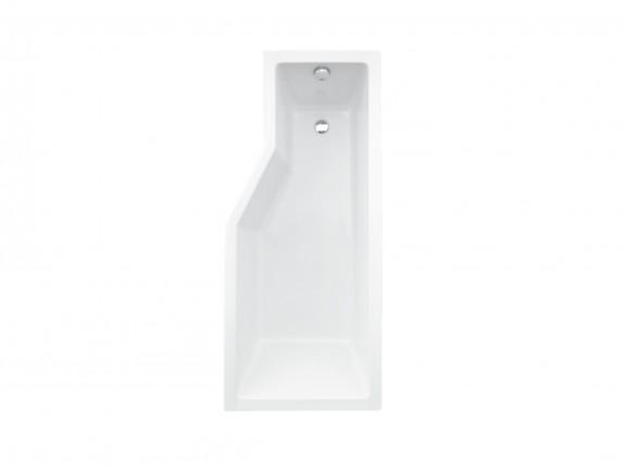 Kabino-wanna prawa +parawan 2-skrzydłowy Besco Integra 170x75 cm biały WAI-170-PP2
