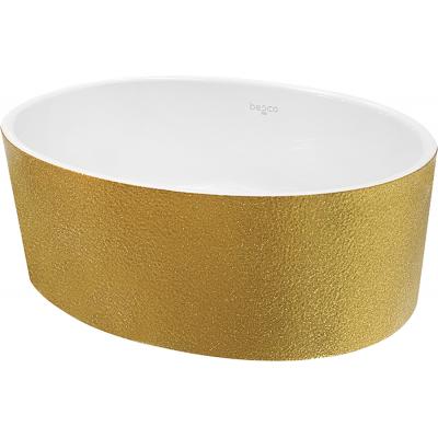 Umywalka nablatowa złota Besco Uniqa Glam 32x46x17 cm złoty UMD-U-NGZ