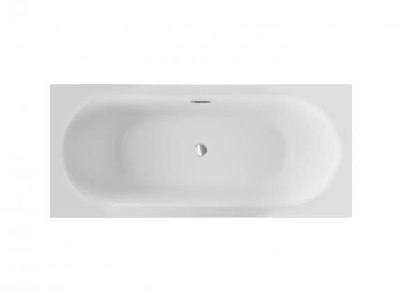 Wanna prostokątna Besco Vitae Slim + 160x75 cm biały WAV-160-S+