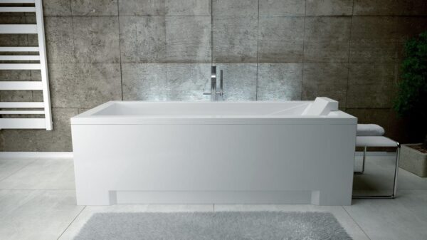 Zdjęcie Wanna prostokątna Besco Modern 180×80 cm biały WAM-180-MO