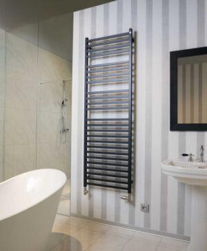 Grzejnik łazienkowy Zehnder Vision 79,2x50 cm moc: 374 white matt QV-080-050-05x0556