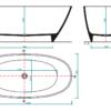 Zdjęcie Wanna wolnostojąca Aquahome Nieve 160×75 cm