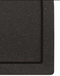 Brodzik prostokątny czarny Besco Alpina Slimline Stone Effect 100x80 cm BAA-108-P-C