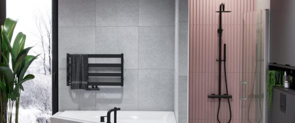 Zdjęcie Zestaw prysznicowy Excellent Pi czarny mat AREX.1281BL