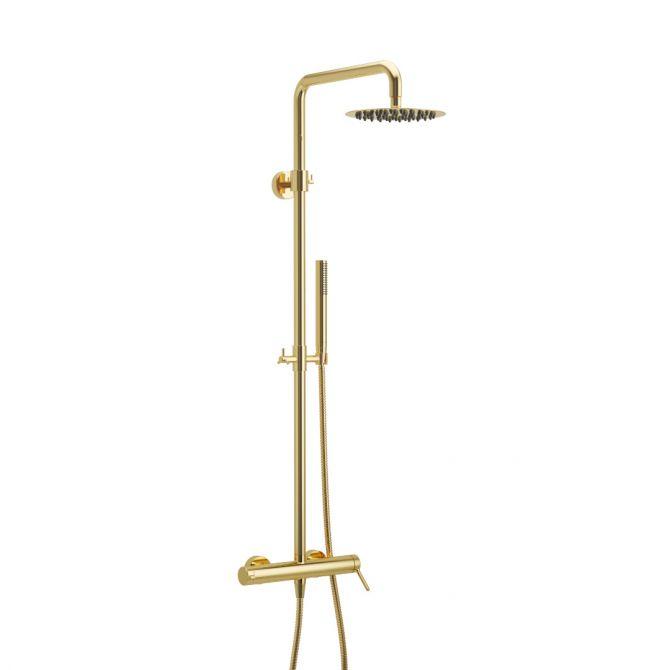 Zestaw prysznicowy Excellent Pi złoty połysk AREX.1281GL