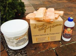 Fuga+Impregnat+Klej+Grunt - Stare Cegły Pakiet produktów na 1 m2 antracyt
