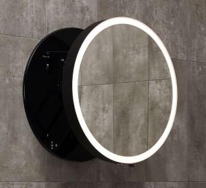 Zdjęcie Lustro okrągłe 60 cm Miior moon black 302601