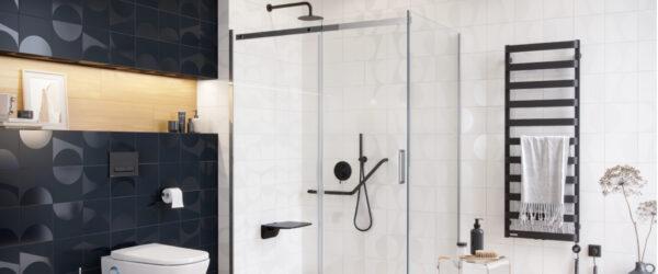 Zdjęcie Zestaw prysznicowo – wannowy podtynkowy Excellent Pi czarny mat AREX.SET.1245BL