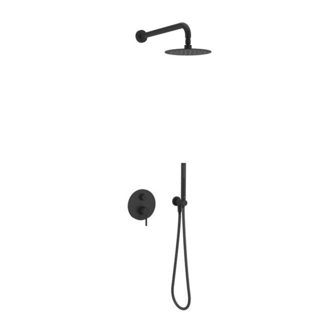 Zestaw prysznicowo - wannowy podtynkowy Excellent Pi czarny mat AREX.SET.1245BL