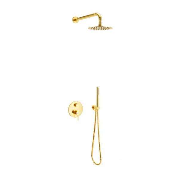 Zdjęcie Zestaw prysznicowo – wannowy podtynkowy Excellent Pi złoty połysk AREX.SET.1245GL