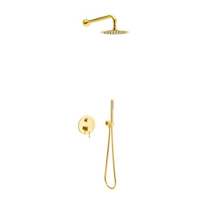 Zestaw prysznicowo - wannowy podtynkowy Excellent Pi złoty połysk AREX.SET.1245GL