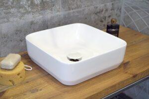 Umywalka nablatowa Aquahome Buena New 39x39x13 cm