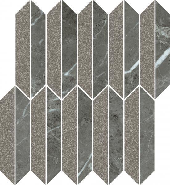 Zdjęcie Mozaika cięta Mix Paradyż Noisy Whisper Graphite Mat 27,4×29,8 cm