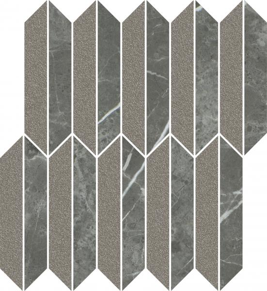 Mozaika cięta Mix Paradyż Noisy Whisper Graphite Mat 27,4x29,8 cm