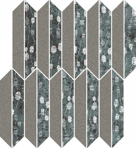 Zdjęcie Mozaika cięta Paradyż Unique Lady Green Mix Mat 27,4×29,8 cm