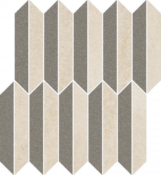 Mozaika cięta Paradyż Mystic Shadows Beige Mix Mat 27,4x29,8 cm