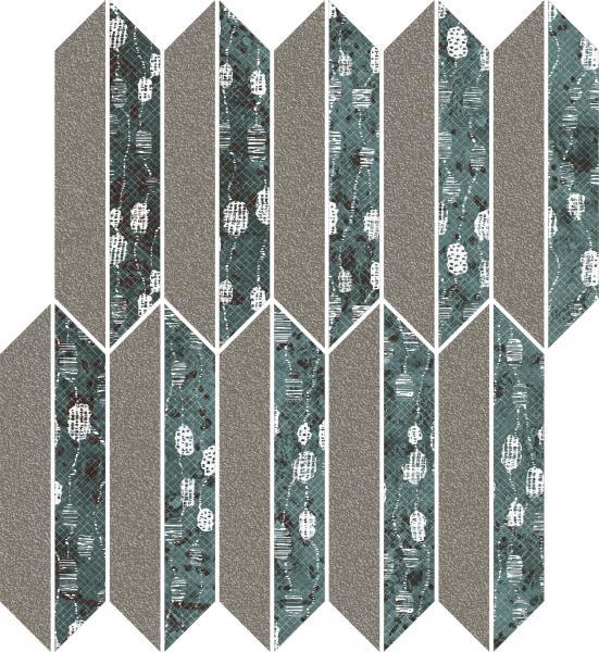 Mozaika cięta Paradyż Unique Lady Green Mix Mat 27,4x29,8 cm