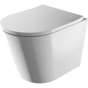 Miska WC wisząca 51,5x36 cm + deska WC wolnoopadająca Omnires Tampa biały TAMPAMWBP