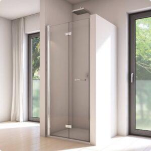 Powierzchnia szklana (szyba) do drzwi prysznicowych lewych składanych Sanswiss Solino 90x200 cm @