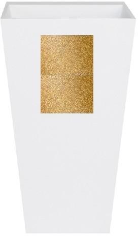 Zdjęcie Umywalka wolnostojąca złota Besco Vera Glam 40x50x85 cm złoty UMD-V-WOZ