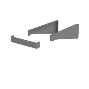 Wspornik blatu 35 cm Oristo Grafit mat OR00-A-WS-35-6