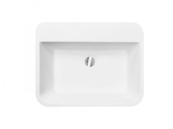 Umywalka nablatowa Besco Assos S-line 40x50x15 cm biały UMD-AP-NB